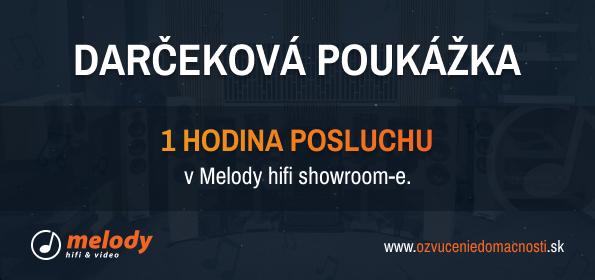 TM Sound Darčeková poukážka - 1 hodina posluchu v Melody hifi showroom-e