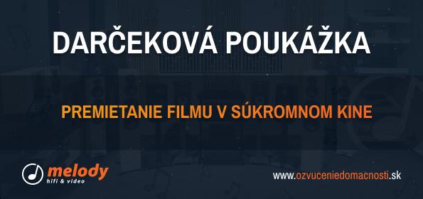 Melody Darčeková poukážka - Premietanie filmu v súkromnom kine