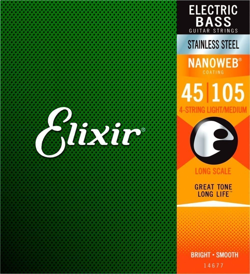 Elixir 14677 Bass NanoWeb Stainless Steel Medium/Long Scale