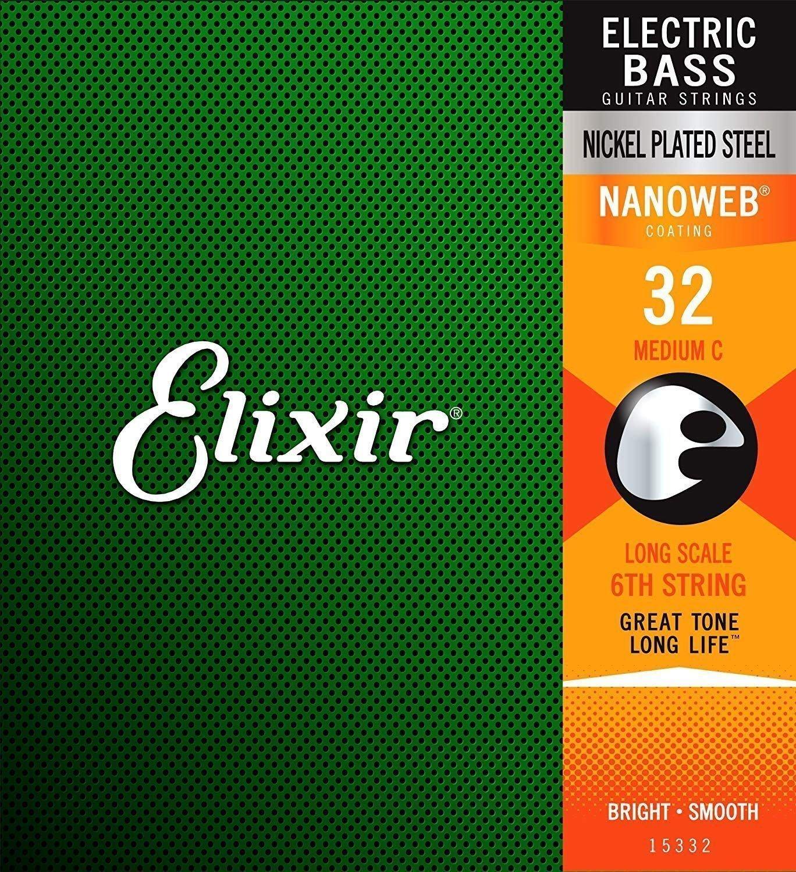 Elixir 15332 Electric Bass NanoWeb Coating C-string .032