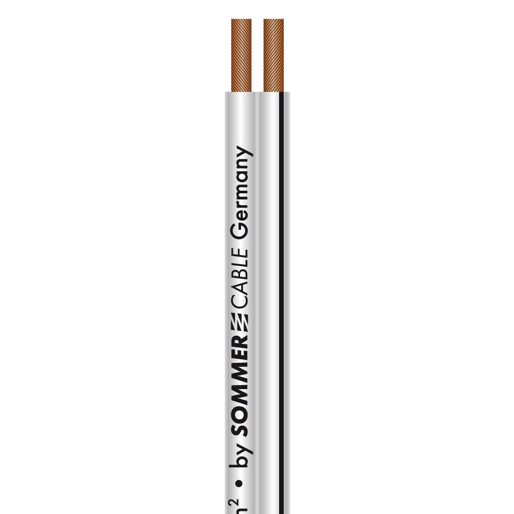 Sommer Cable PRISMA LS-Kabel 2x1,5 White, StreifenBlack