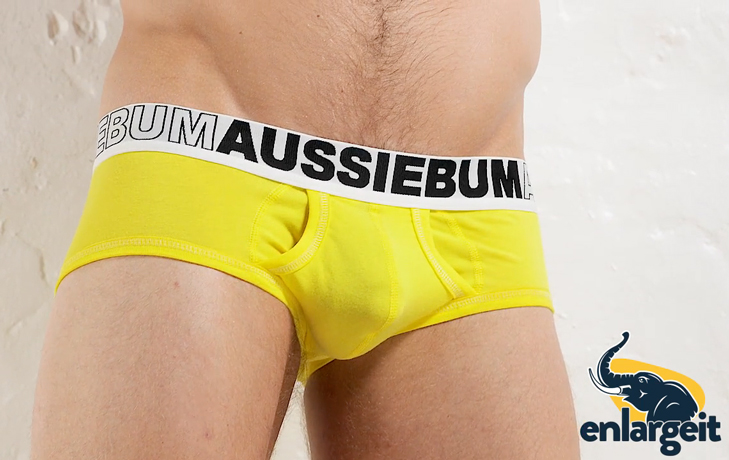 Push Up Slipy AussieBum EnlargeIT Brief Sunshine11