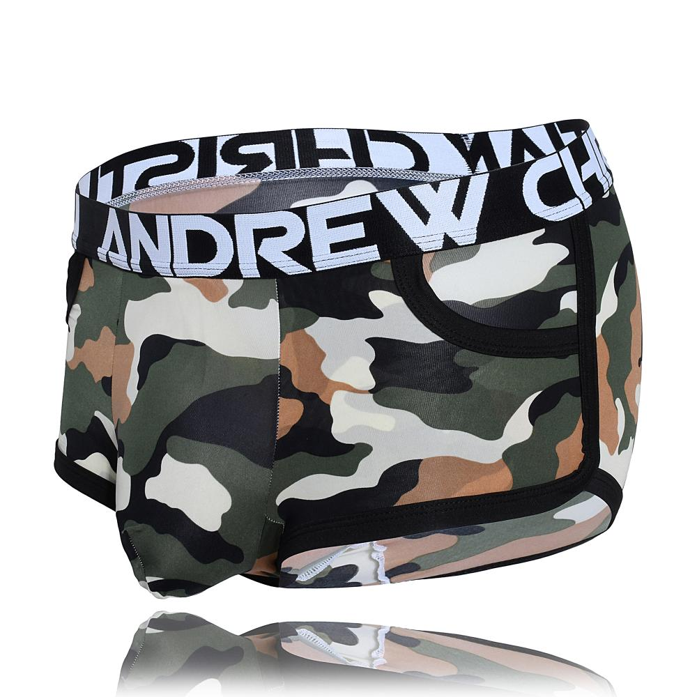 Almost Naked Boxerky ANDREW CHRISTIAN Camouflage Pocket1