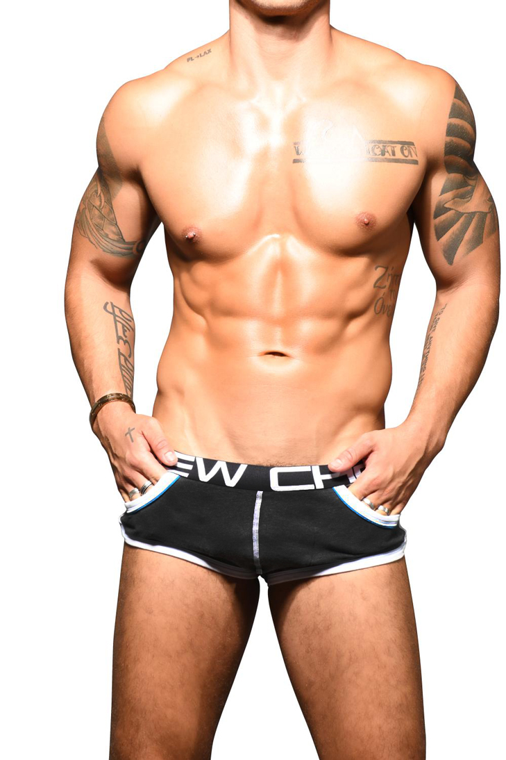 Retro Pop Pocket boxerky ANDREW CHRISTIAN s Pushup kapsou Show-It 91845 Charcoal21