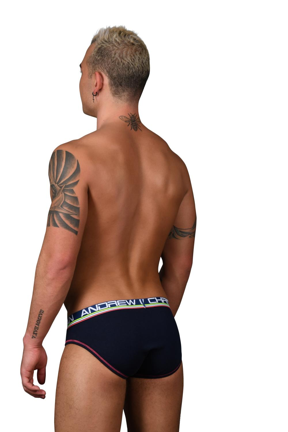 Almost Naked Cotton Slipy ANDREW CHRISTIAN Navy5