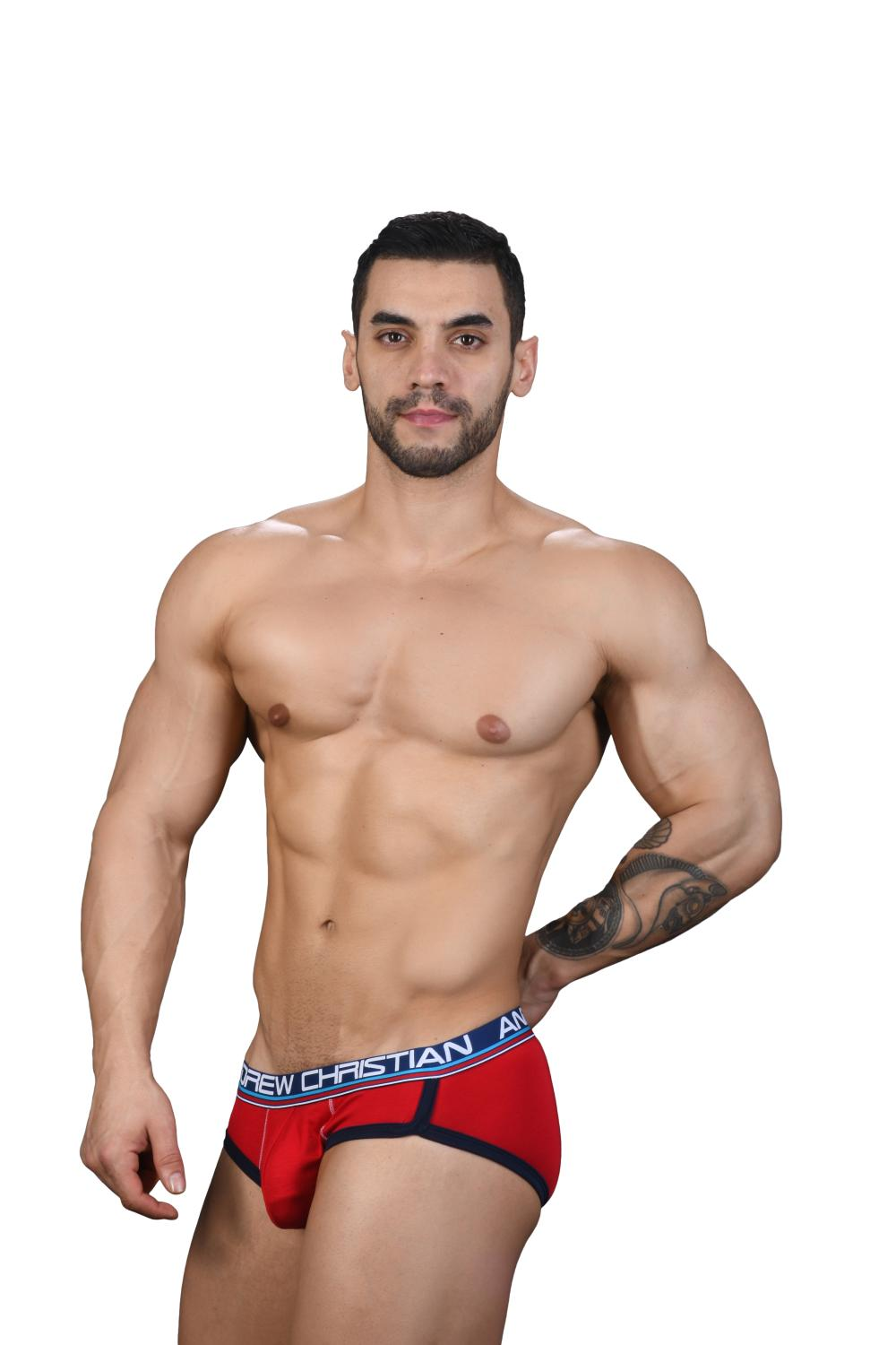 CoolFlex Modal Slipy ANDREW CHRISTIAN s Pushup kapsou Show-It Red4