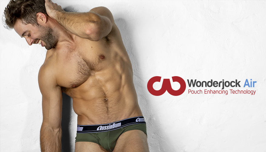 Push-up Slipy AussieBum z kieszenią Wonder Jock AIR  Army2