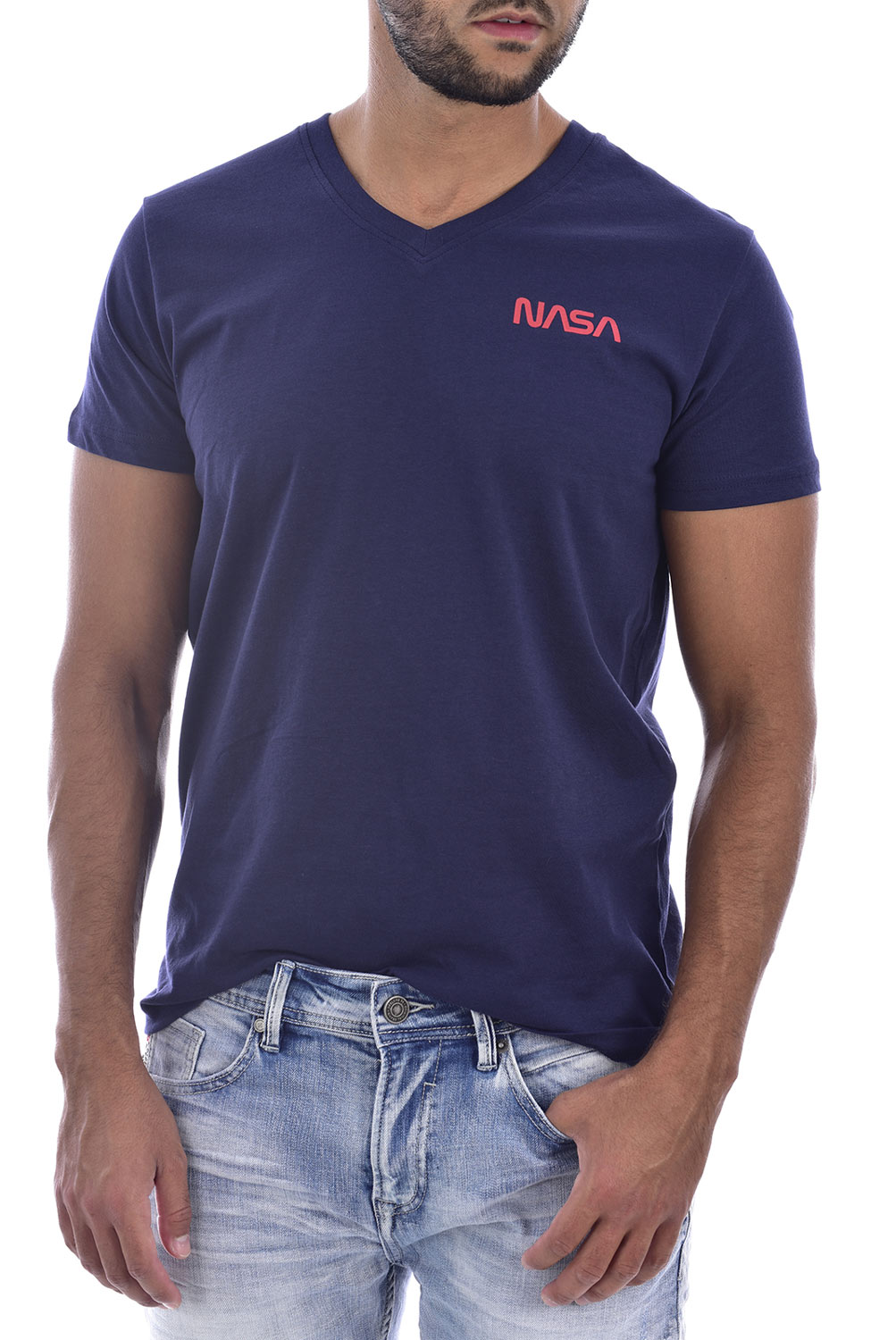 1originalni-nasa-tricko-basic-worm-v-neck-navy