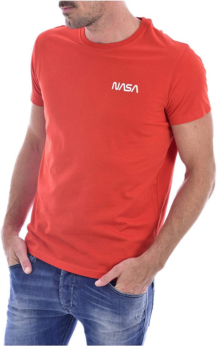 nasa-tricko-round-neck-basic-worm-cervena
