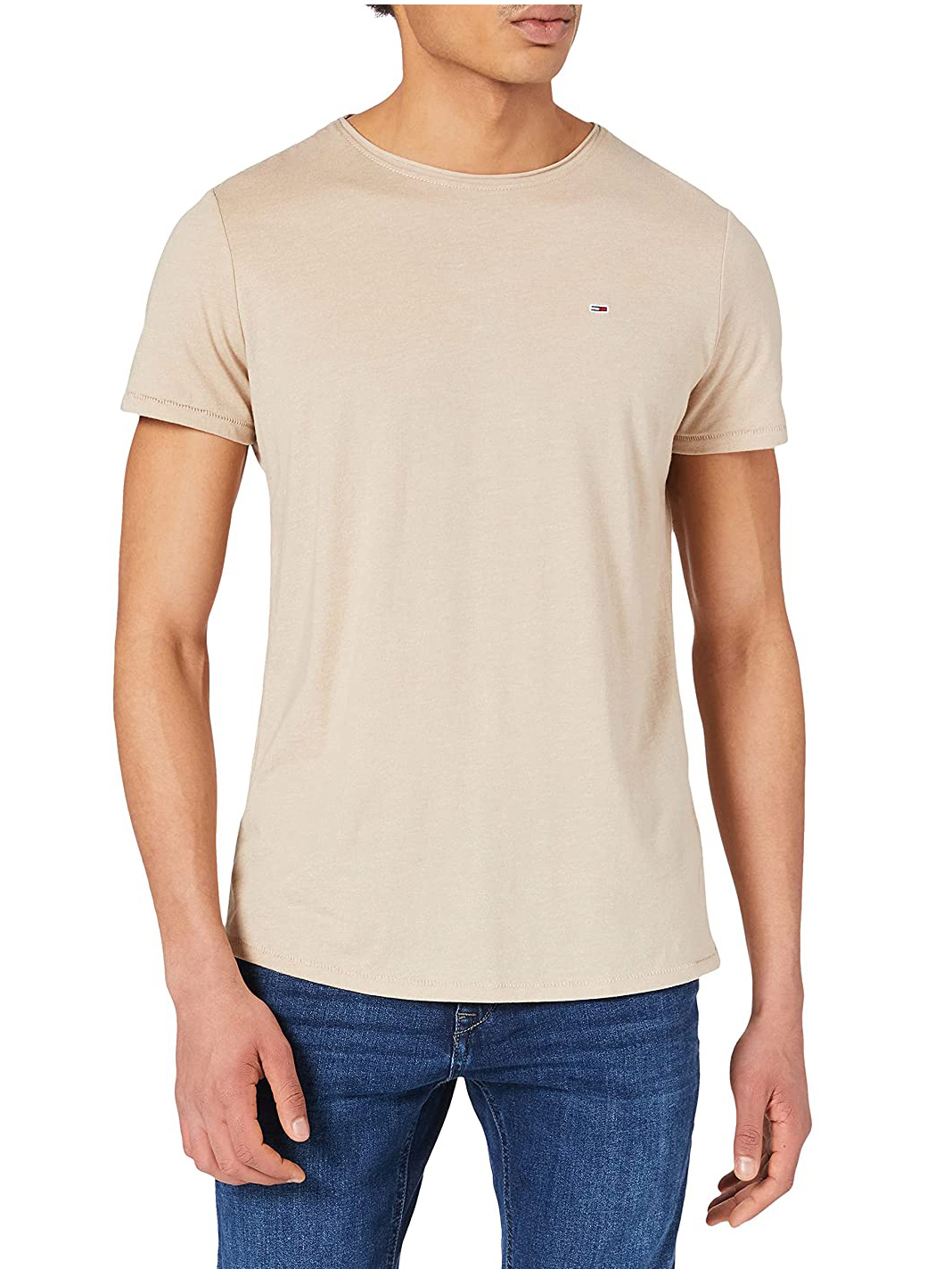 tricko-tommy-hilfiger-jeans-slim-jaspe-dm0dm0-9586-bezova0