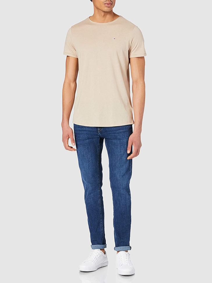 tricko-tommy-hilfiger-jeans-slim-jaspe-dm0dm0-9586-bezova1