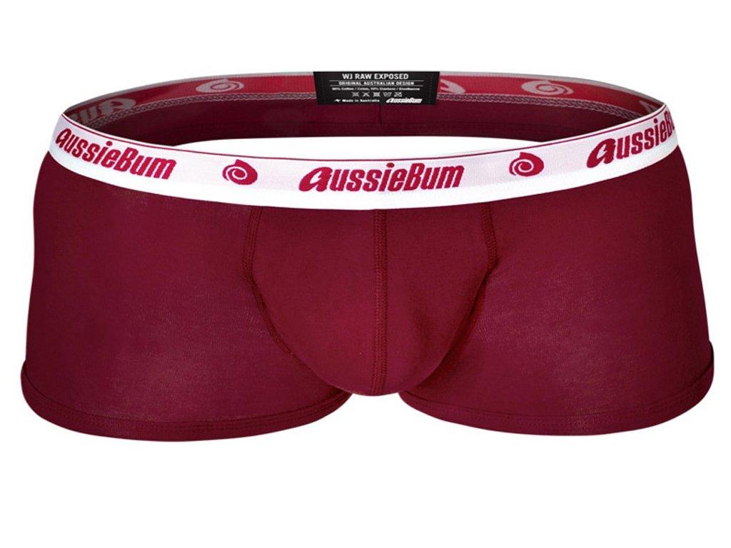 boxerky aussiebum wonderjock wj raw exposed burgundy1