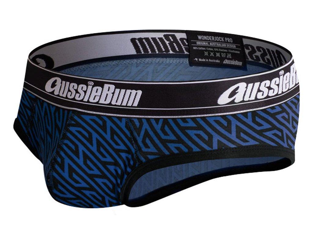 push up slipy aussiebum s kapsou wonder jock pro geo blue10