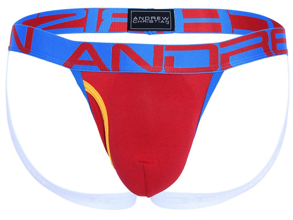 Fly Jockstrap ANDREW CHRISTIAN Almost Naked 91219 Red2