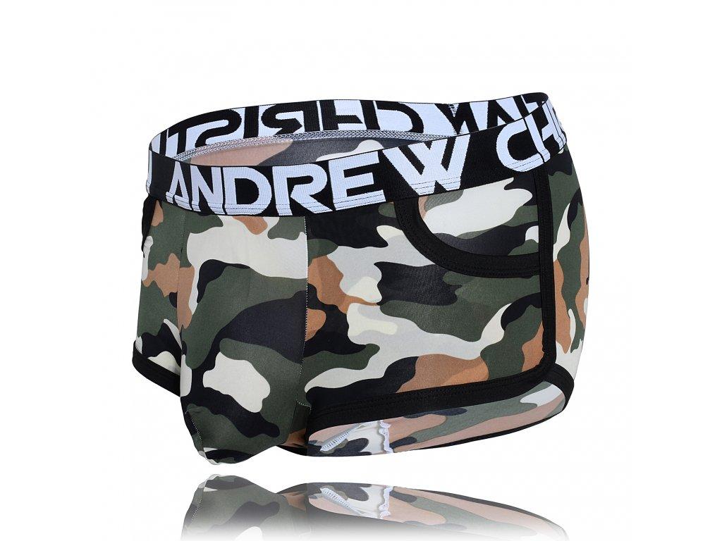 Boxerky ANDREW CHRISTIAN Camouflage Pocket