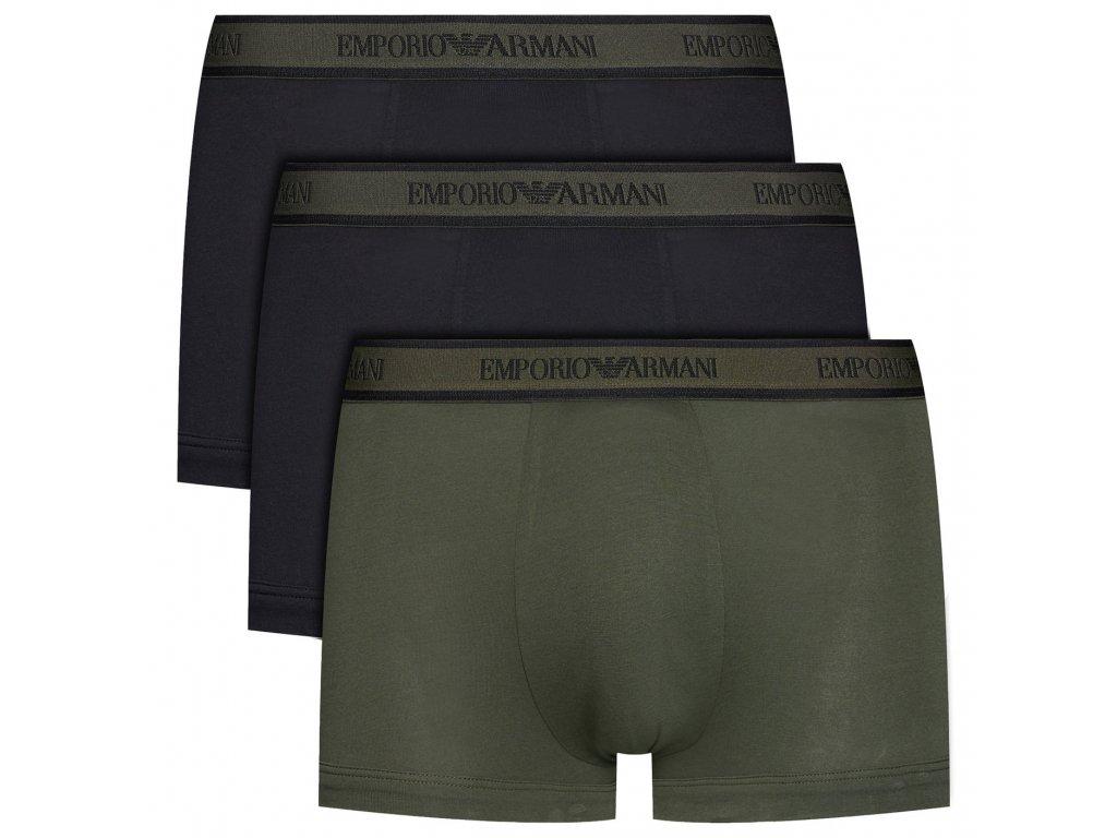 emporio armani boxerky stretch cotton 3 pack 111357 0a717 army18