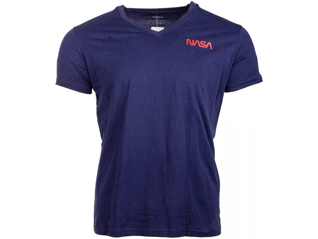 originalni-nasa-tricko-basic-worm-v-neck-navy