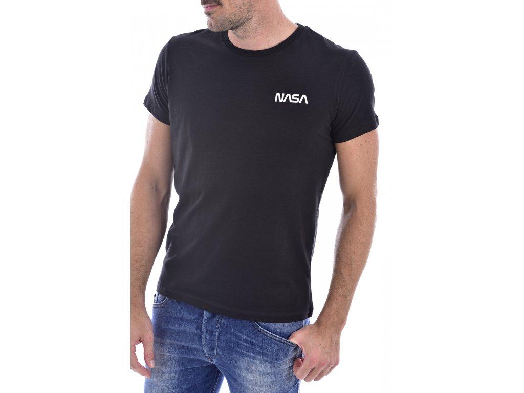 Originální NASA tričko BASIC WORM - Black