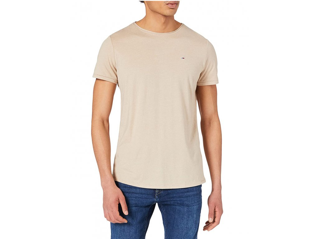 tricko-tommy-hilfiger-jeans-slim-jaspe-dm0dm0-9586-bezova