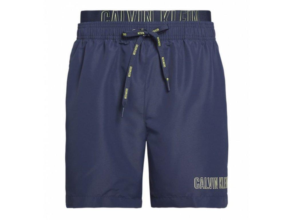 Šortkové plavky CALVIN KLEIN DOUBLE Waistband KM0KM003001