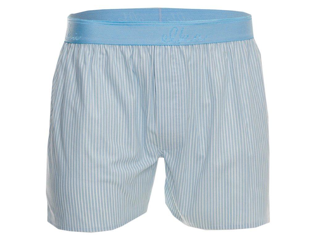 trenky z bavlneneho satenu elka m00596 active blue stripes0