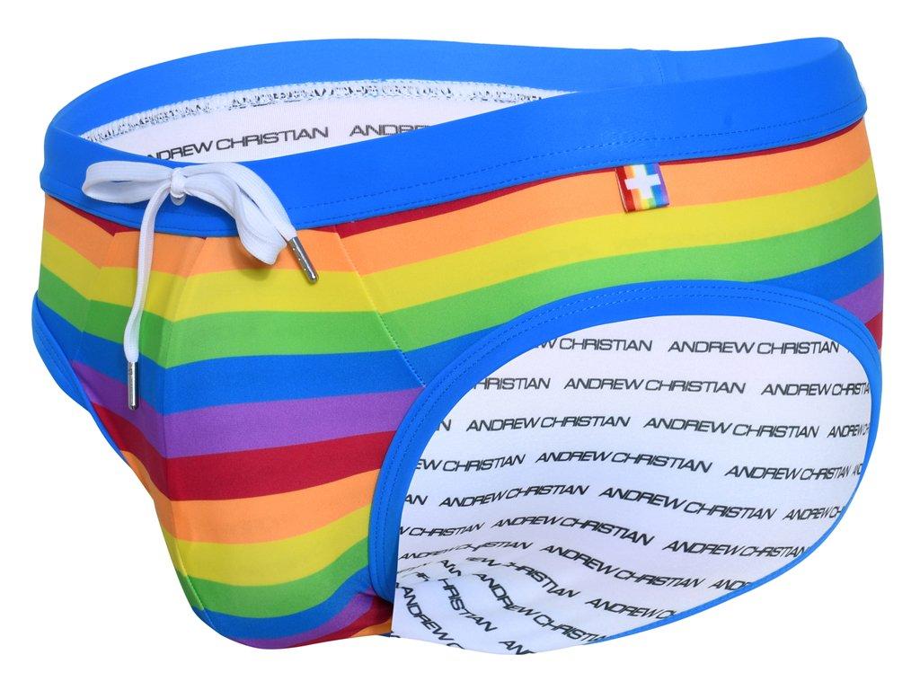 andrew christian slipove plavky pride stripe 78355