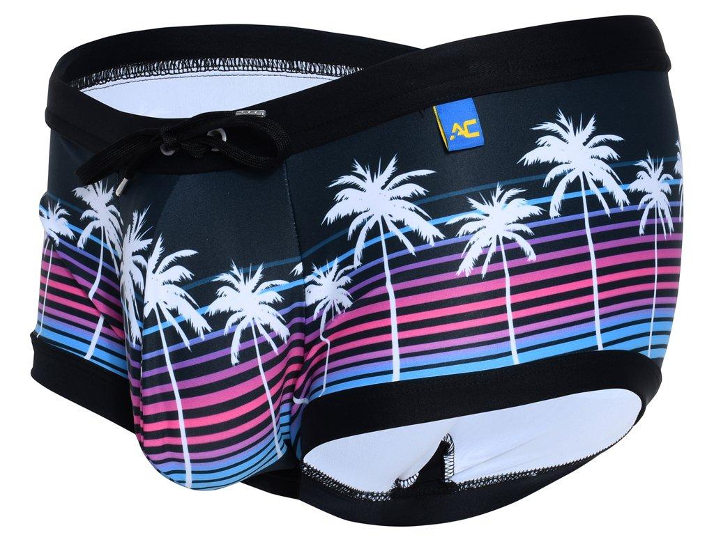 andrew christian boxerkove plavky california sunset 7806 black5