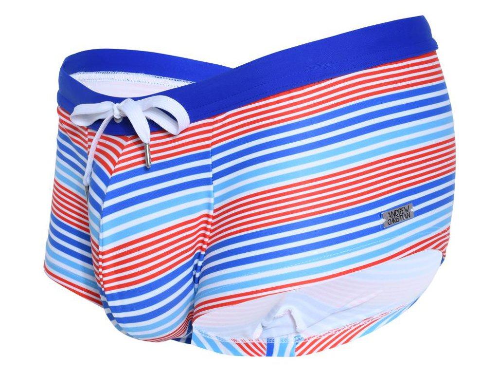 andrew christian boxerkove plavky nautical stripe 78178