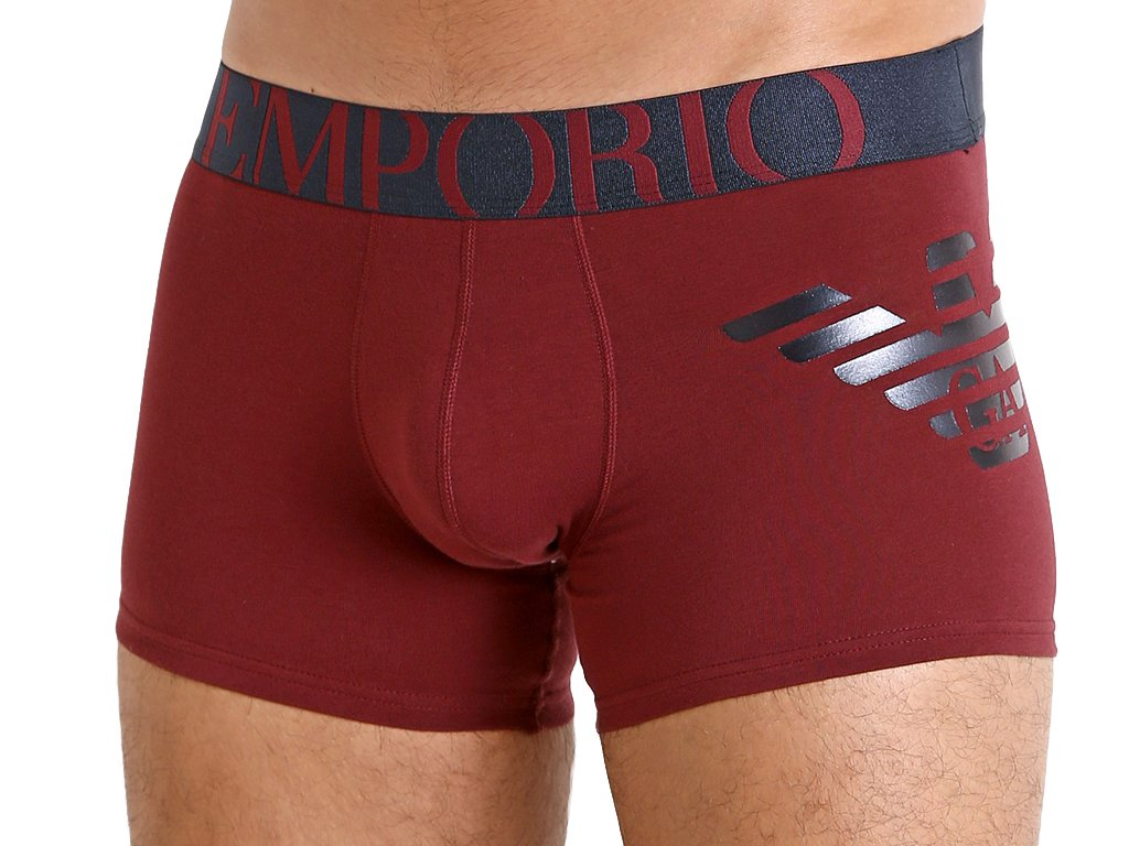EMPORIO ARMANI Boxerky Stretch Cotton 111776 9A725 Amaranth2