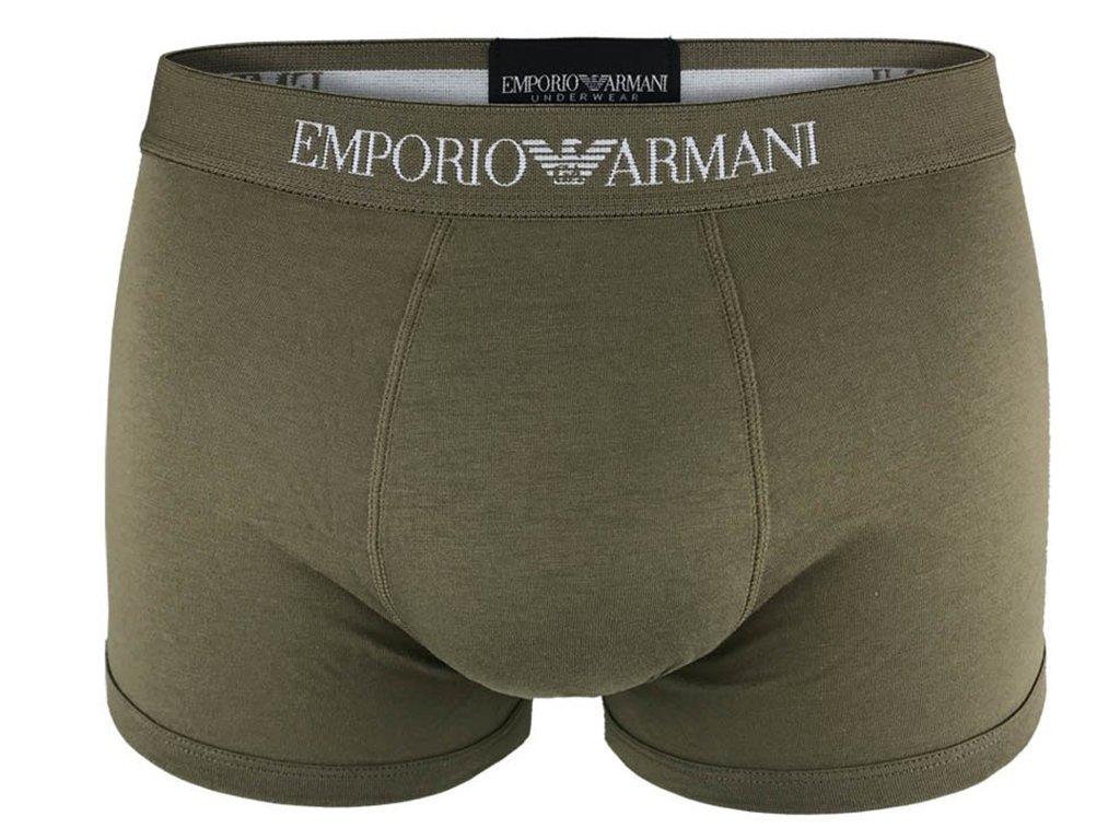 EMPORIO ARMANI Boxerky Stretch Cotton 111625 9P722 Khaki3