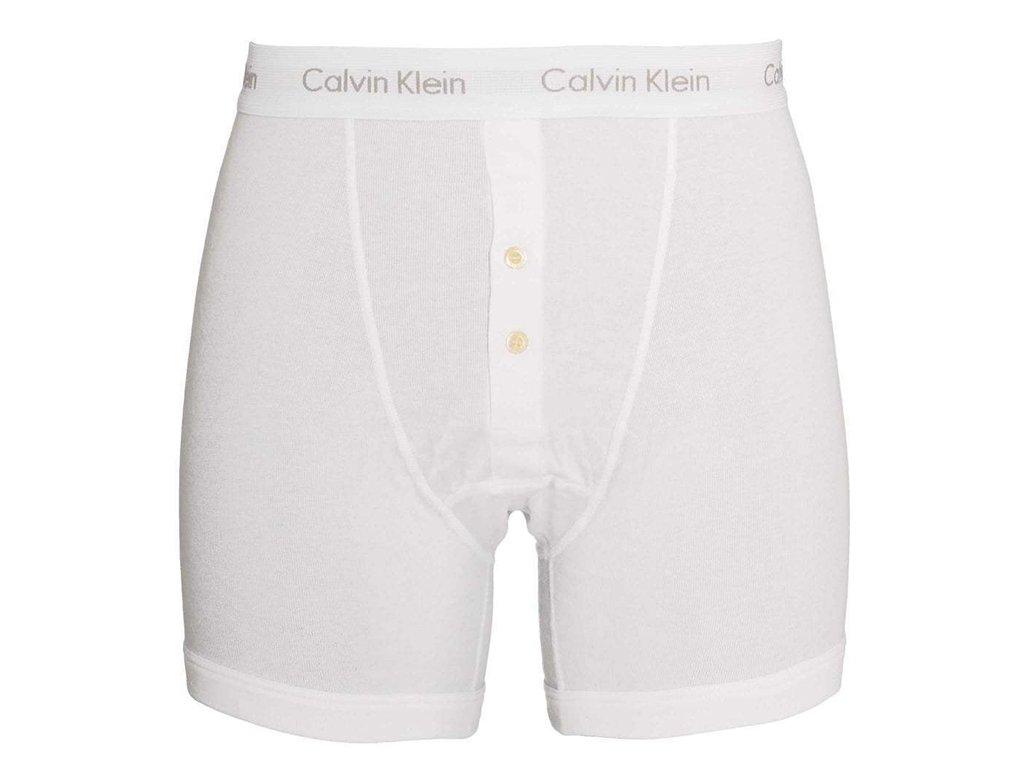 boxerky calvin klein button fly u3009a 080 bila2