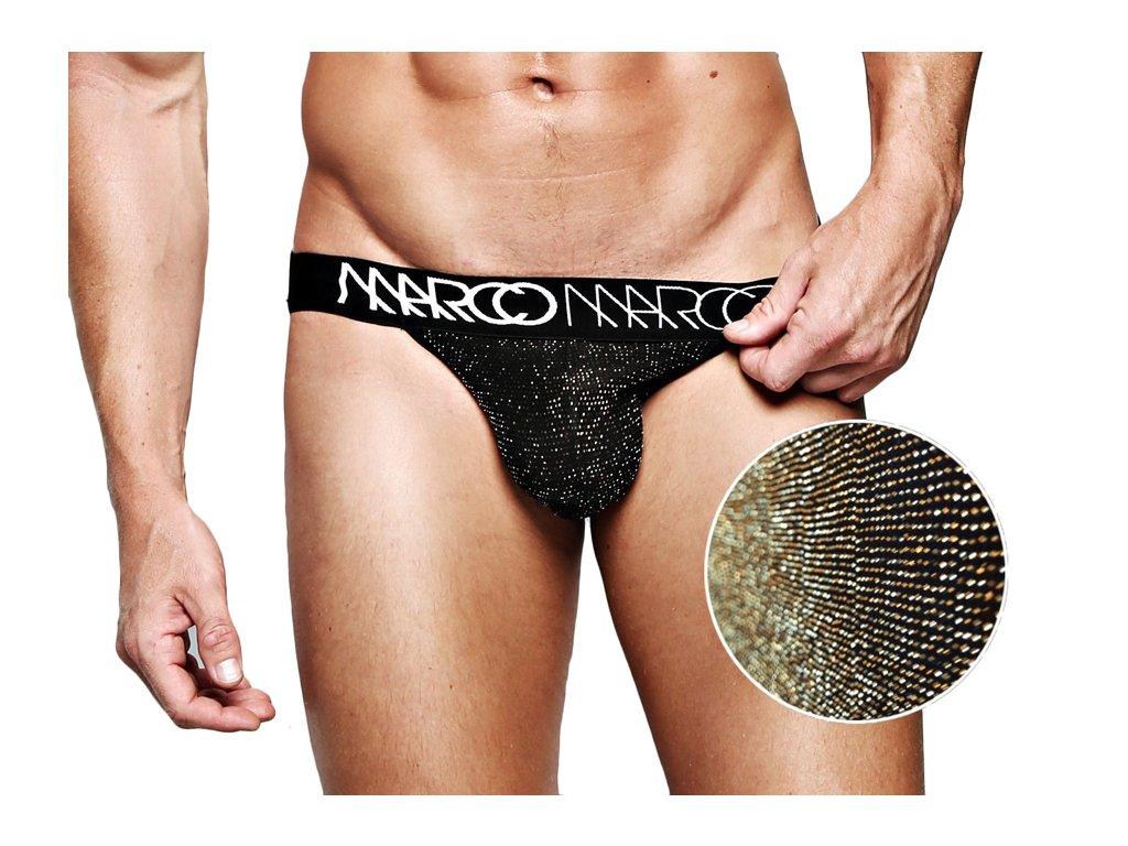 Luxusní jockstrap se zlatými detaily MARCOMARCO GOLD NOIR