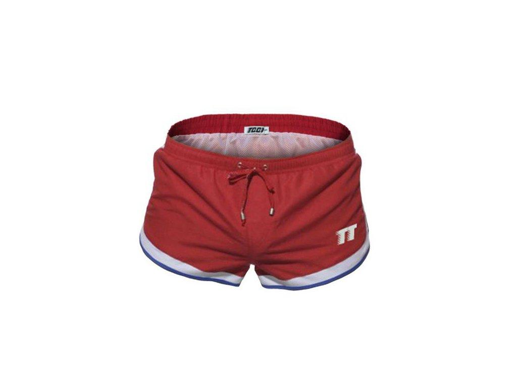 Pánské boxerkové plavky 2018 TQQT - Racing red - Ménage.cz a462835fb9