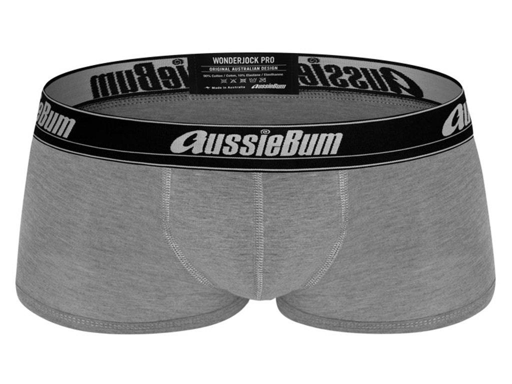 Push-up Boxerky AussieBum s kapsou Wonder Jock PRO Světle Šedá Marle