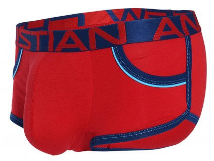 Retro Pop Pocket boxerky ANDREW CHRISTIAN s Pushup kapsou Show It Red1