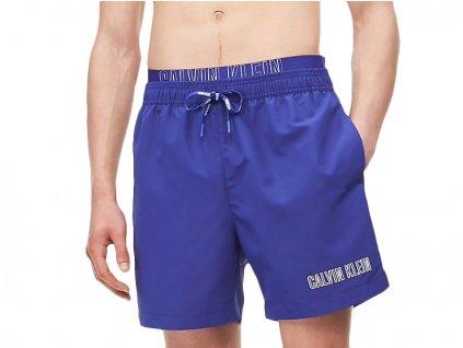 sortkove plavky calvin klein double waistband km0km00385