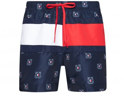 Šortkové plavky Tommy Hilfiger Nautical Flag UM0UM01722 0hb (Barva Modrá, Pro obvod pasu Pro obvod pasu (112-117cm), Velikost XXL)