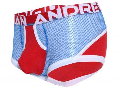 boxerky z bavlnene sitoviny andrew christian retro net 91841 red electric blue20