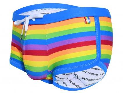 andrew christian boxerkove plavky pride stripe 78368
