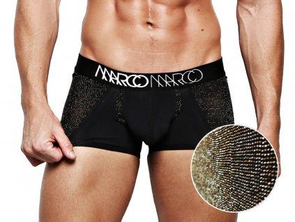 Luxusní boxerky se zlatými detaily MARCOMARCO GOLD NOIR - DOPRAVA ZDARMA!
