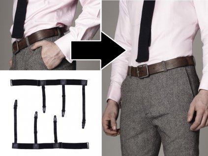 SHIRTPAL - Neviditelné pánské šle proti vykasávání košilí 2ks