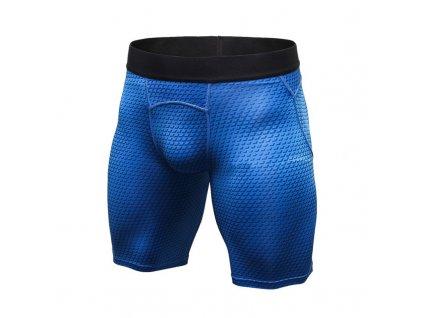 sportovni kompresni sortky panske blue skin