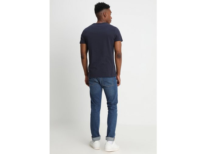 calvin klein jeans core institutional logo tee navy4