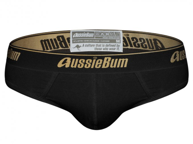 Slipy AussieBum CottonSoft Onyx Black Brief1