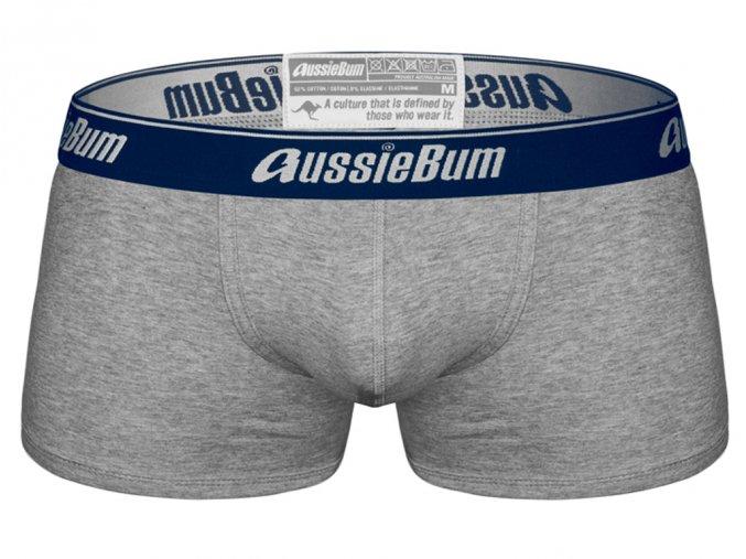 Boxerky AussieBum CottonSoft Sapphire Grey Hipster1