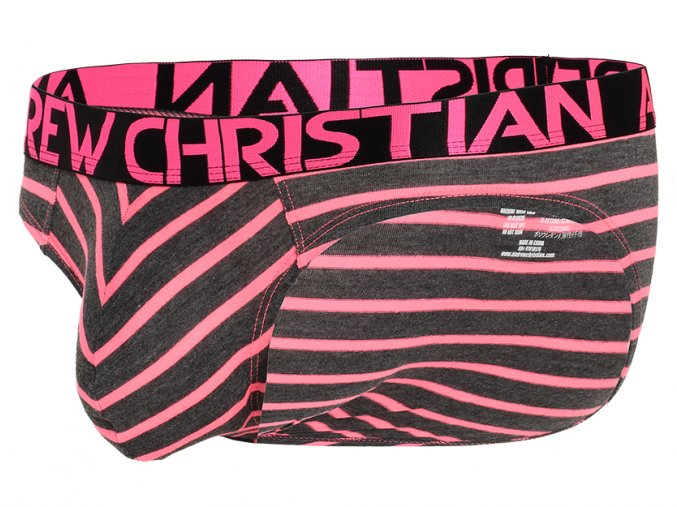 physical stripe slipy andrew christian almost naked pink grey1