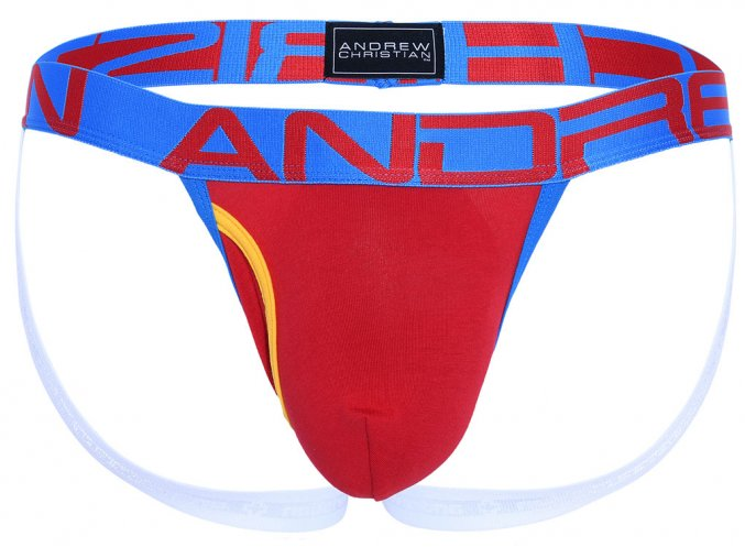 Fly Jockstrap ANDREW CHRISTIAN Almost Naked Red1