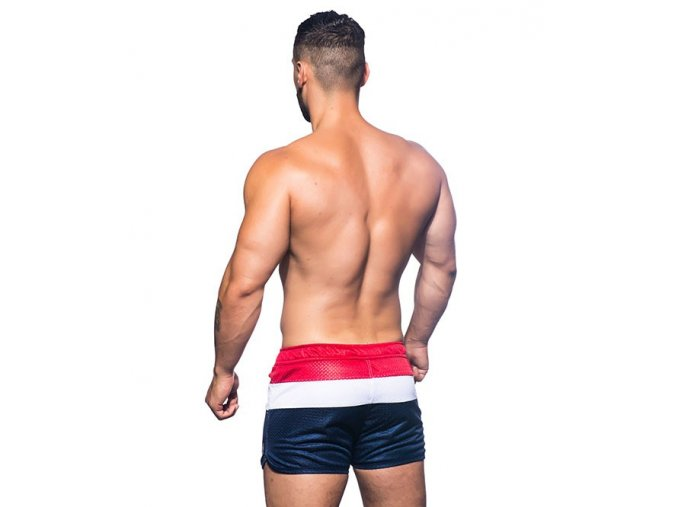 -Andrew Christian šortkové plavky Paradise Mesh Swim Shorts - Red