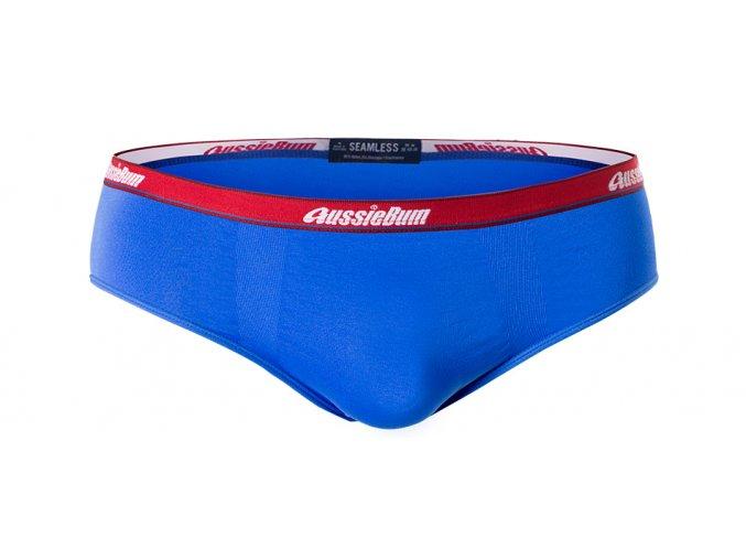 AussieBum Seamless Bezešvé slipy - modrá (Barva Modrá, Velikost M)