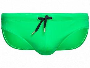 panske push up slipove plavky s vyjimatelnou vlozkou zelena 7